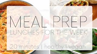 WEEKLY MEAL PREP | VEGAN LUNCHES FOR THE WEEK | Fit Friday