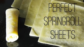 Spring Roll Sheets | Homemade Spring Roll Wrappers/Skins For Your Snacks | Kanak