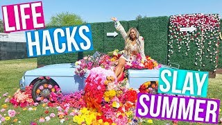 LIFE HACKS FOR SUMMER!! Diet, Fitness, Festivals + More! 2018