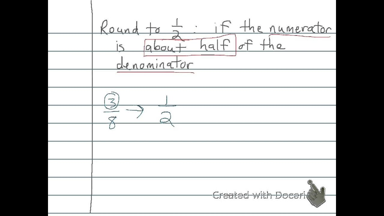 worksheet Rounding Integer Numbers rounding fractions and whole numbers 6th youtube 6th