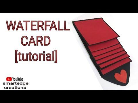 WATERFALL CARD | easy tutorial