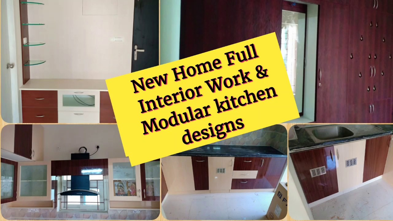 New Home Full Interior design & Modular kitchen/ Wood material