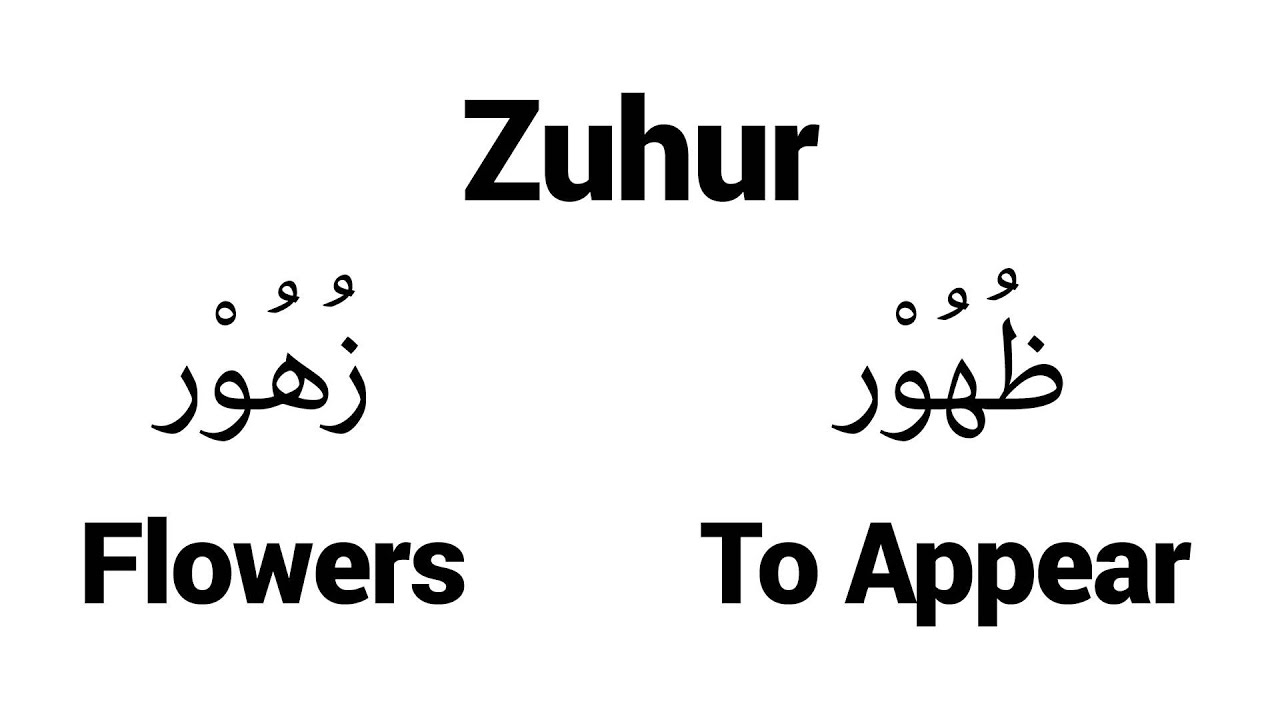 Zuhur - Islamic Name Meaning - Baby Names for Muslims
