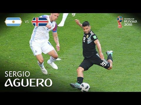 Sergio AGUERO Goal - Argentina v Iceland - MATCH 7