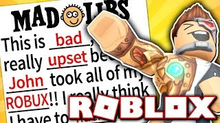 MAKING HILARIOUS ROBLOX STORIES!! (Roblox Mad Libs)