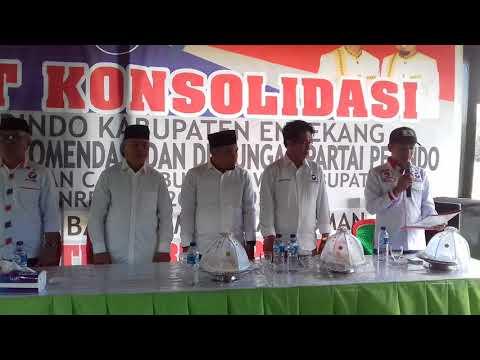 Suasana Penyerahan Surat Rekomendasi Dukungan Perindo Pada MB-Asman Di Pilkada Enrekang 2018
