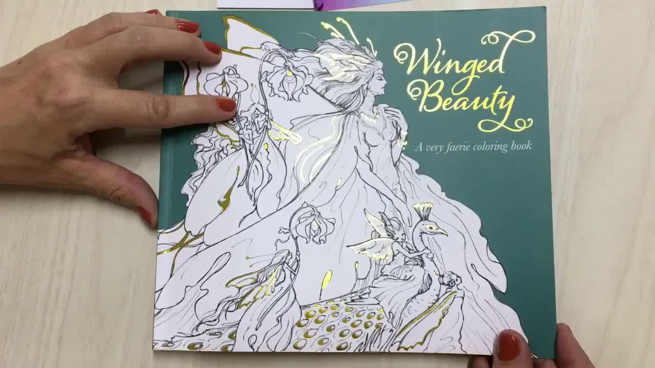 - WINGED BEAUTY Coloring Book - YouTube