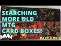 Collection of Old Magic Card Boxes - Black and Red Cards - Great Commander Cards!
