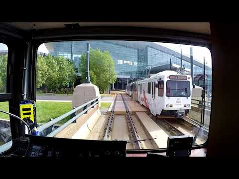 Denver Light Rail – D Line – Viewed From The Rear Driving Cab