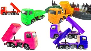 Teaching colors for kids - Learn colors with dump truck toys for children -  learning