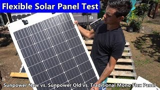 Flexible Solar Panel Output Test: Sunpower Cells After A Year vs. Traditional Mono Flex Panel