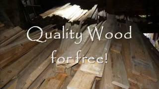 How To Dismantle Pallets For Carpentry. Como Desmontar Palets. Démonter Une Palette