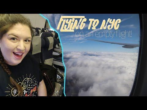Empty Flight to New York City ✌🏼 NYC Daily Vlogs 🇺🇸 Rukaya Cesar