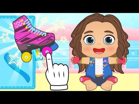 BABY LILY Dressing up as a Roller Skater from Disney Channel | Educational Cartoons