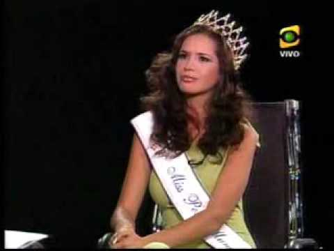 Miss Perú Mundo 2007 Cynthia Calderon con Jaime Bayly