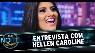 The Noite (18/11/14) - Entrevista com Hellen Caroline, vencedora de concurso do Raul Gil