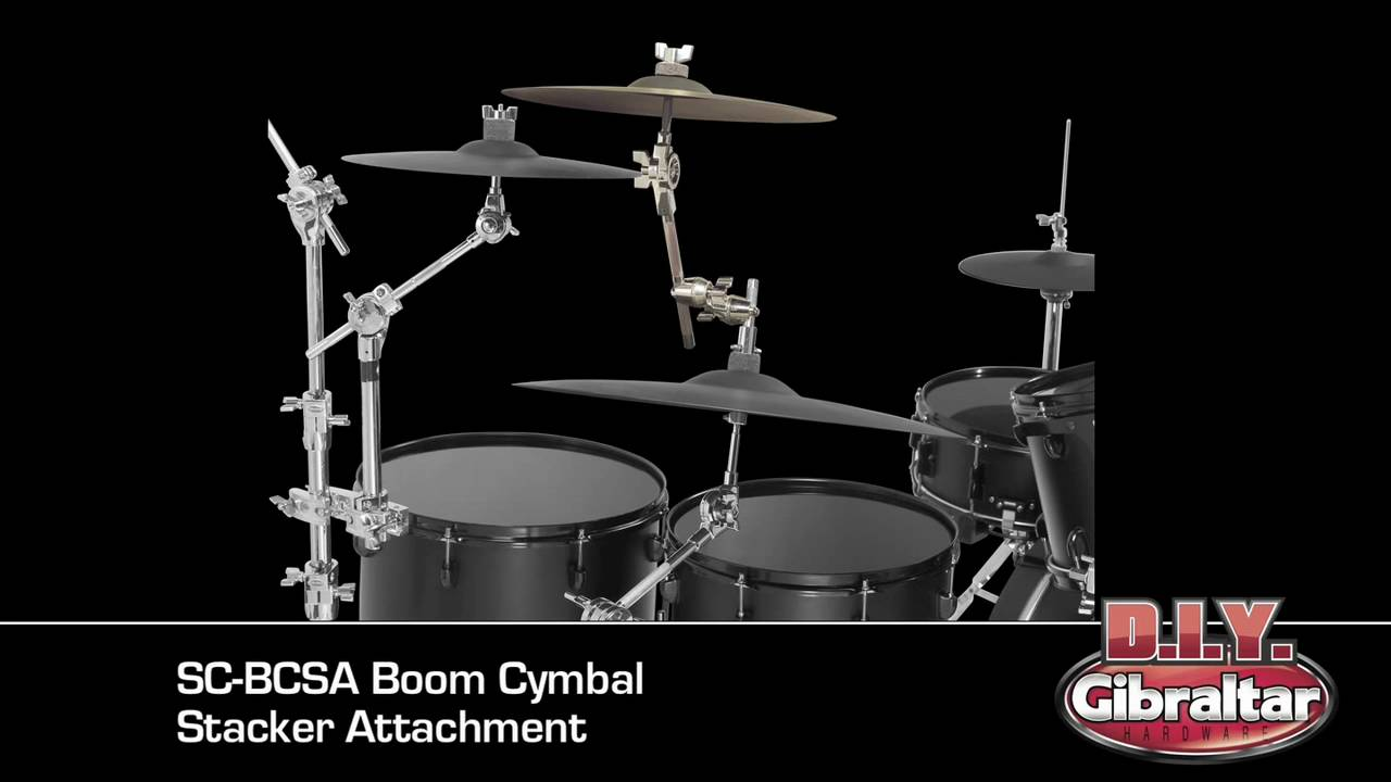 how to stack a crash or splash cymbal to an existing cymbal stand youtube. Black Bedroom Furniture Sets. Home Design Ideas