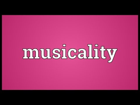 Musicality Meaning