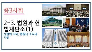 2021 중3사회 2-3. 법원과 헌법재판소(1)