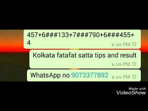 Kolkata fatafat satta tips and result 8/4/2018