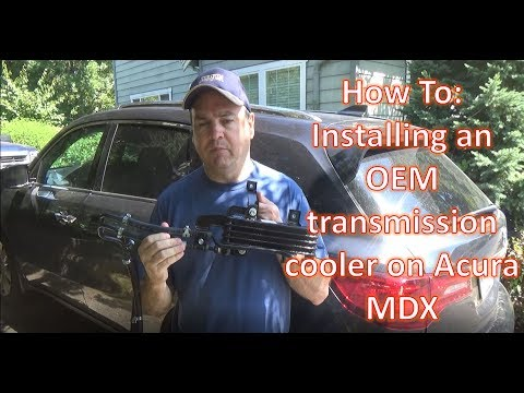 Installing Transmission Cooler on an Acura MDX