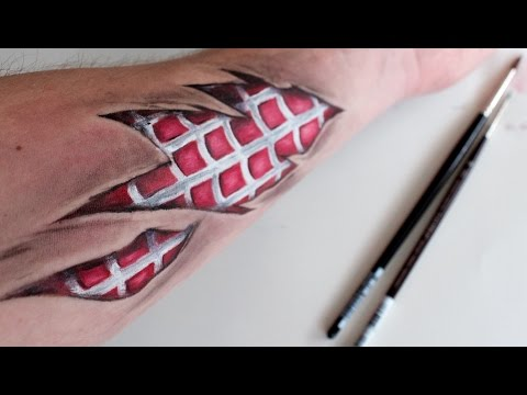 Spider-Man Ripped Skin - Body Paint