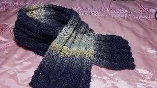 Ажурный шарфик на малыша вязание спицами