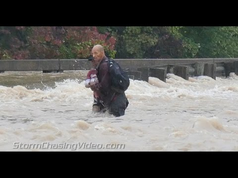 Amazing powerful flooding footage from Columbia, SC Part 2 - 10/4/2015