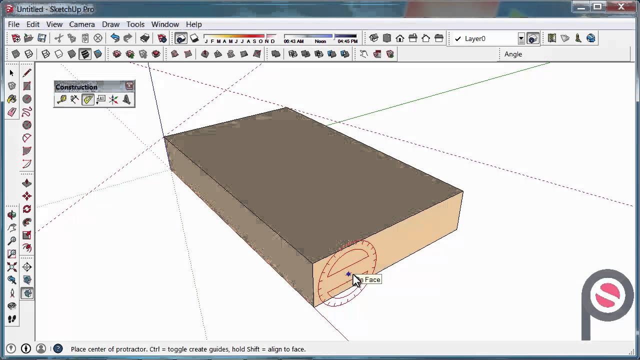 SketchUp - How to use the Protractor Tool