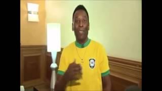 Pelé fala de uma maneira burra kkkk