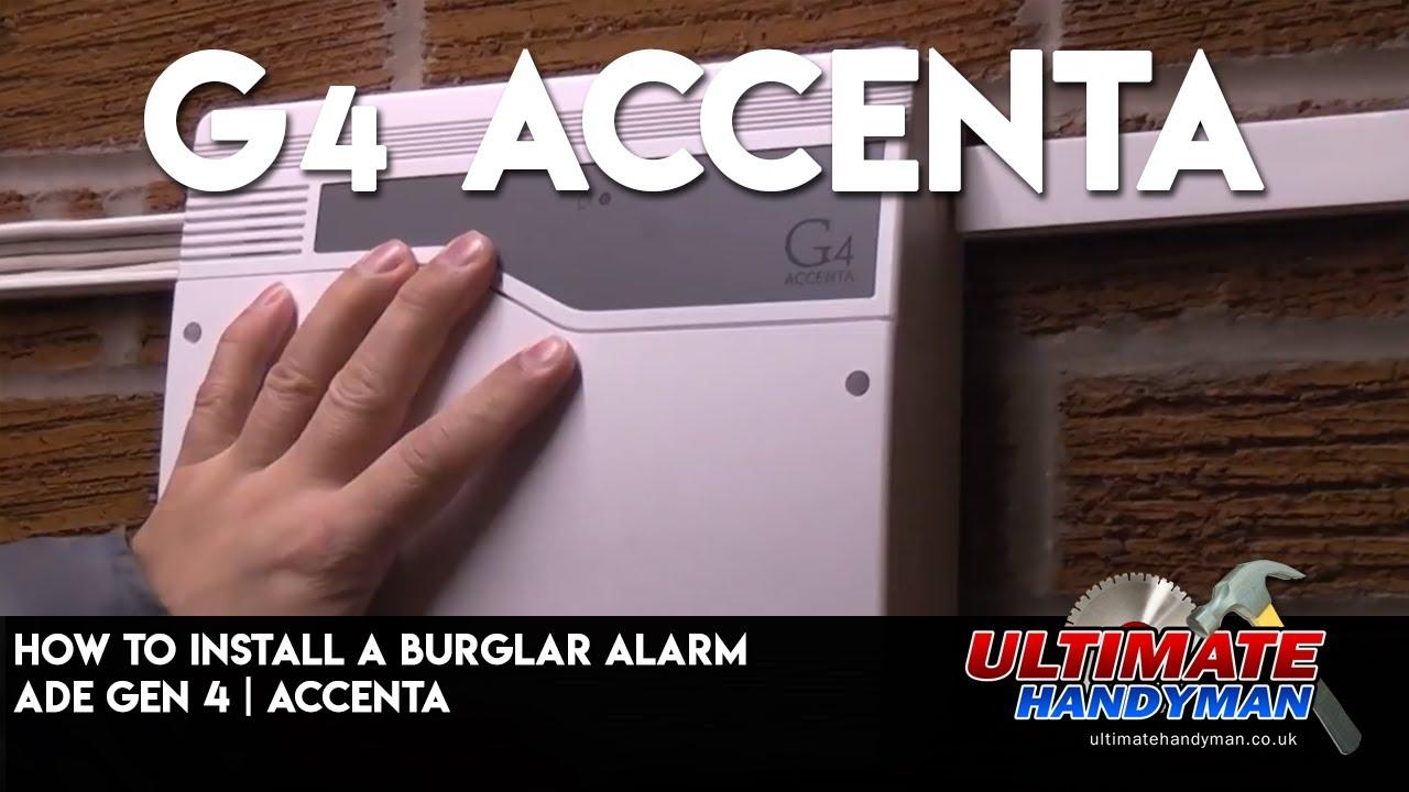 honeywell burglar alarm wiring diagram tandem axle trailer brakes how to install a ade gen 4 accenta youtube