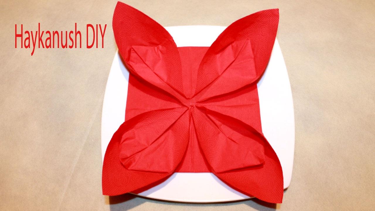 doblado de servilletas en papel