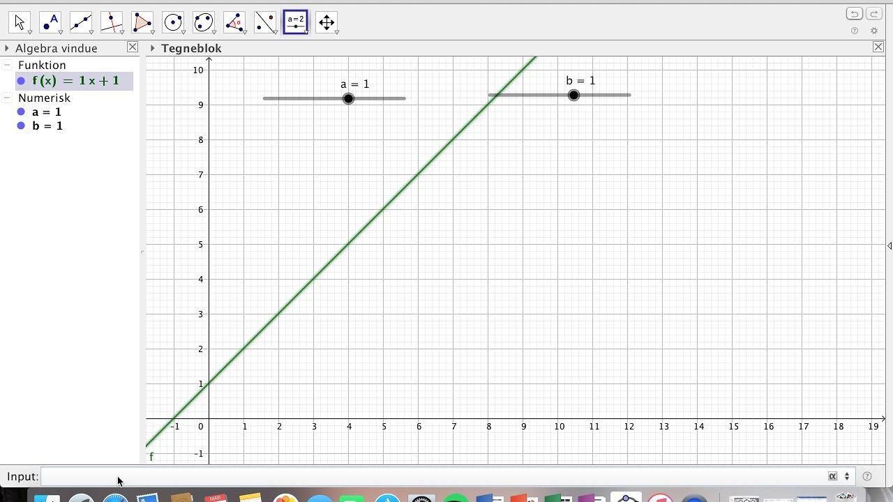 GeoGebra - Undersøgelse af lineær funktion