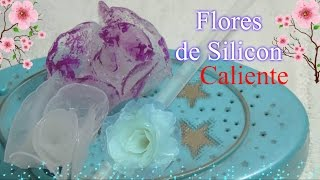 Flores de Silicon Caliente/DIY hot glue gun flowers