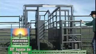 Portable Corral, Rawhide Processor Dec 2010 Video