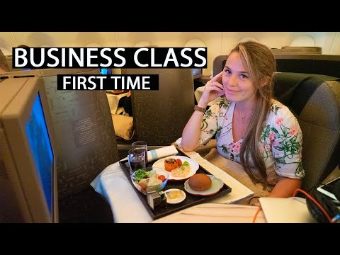 FIRST TIME BUSINESS CLASS: China Airways BUSINESS Taipei To London A350