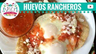 How to make HUEVOS RANCHEROS  Mexican Food