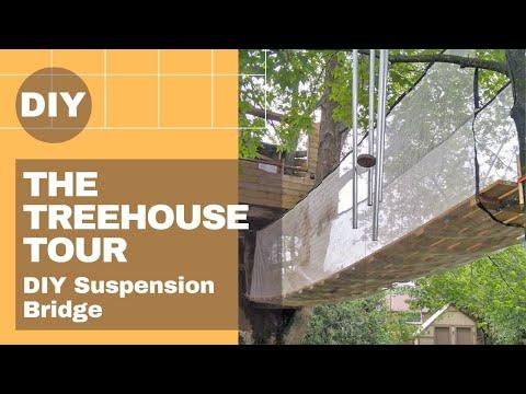 The Treehouse Build – DIY Suspension Bridge