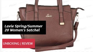 Lavie Spring Summer 20 Women 39 s Satchel Tan UNBOXING REVIEW