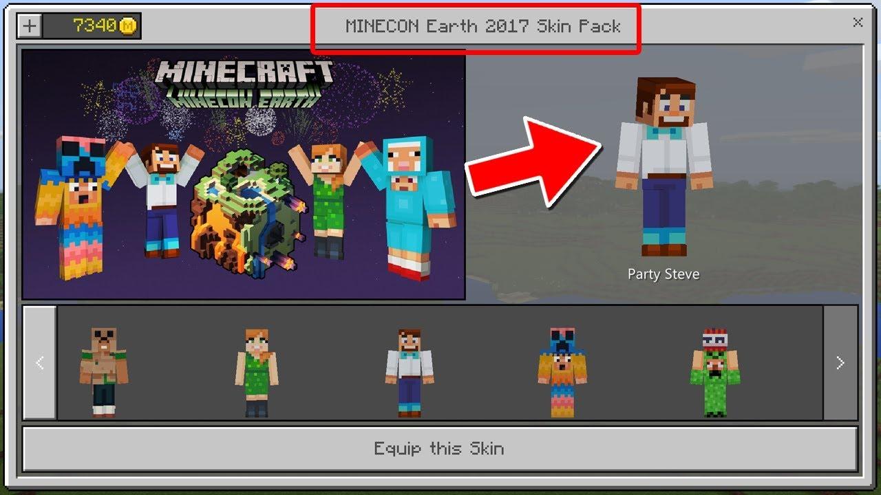 SECRET MINECON EARTH GIFT?! - Free Minecraft Pocket ...