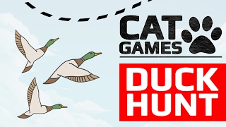 CAT GAMES - 🦆 DUCK HUNT (ENTERTAINMENT VIDEOS FOR CATS TO WATCH) 60FPS