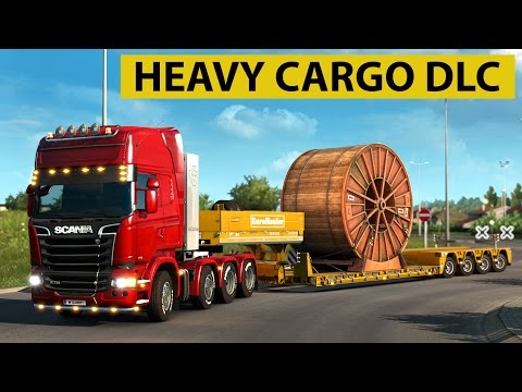Euro Truck Simulator 2 - Heavy Cargo DLC Industrial Cable Reel Delivery