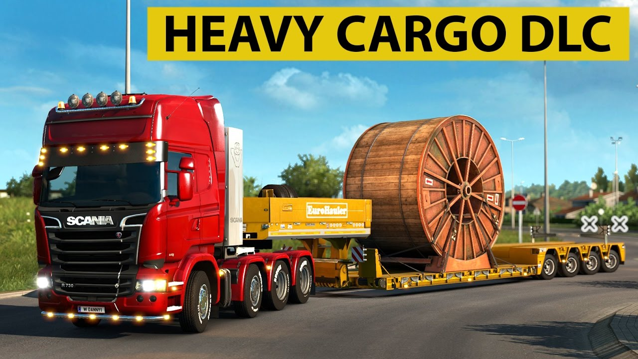 euro truck simulator 2 heavy cargo dlc industrial cable reel delivery youtube. Black Bedroom Furniture Sets. Home Design Ideas