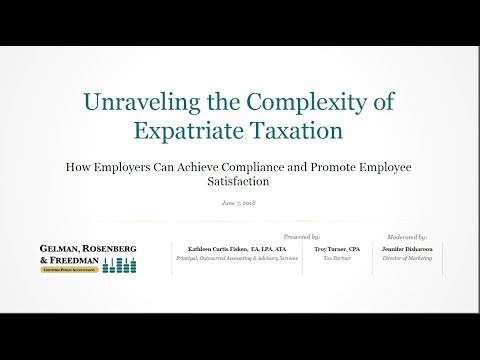 Unraveling the Complexity of Expatriate Taxation