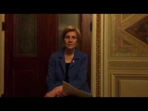 Elizabeth Warren Reads Coretta Scott King Letter about Jeff Sessions