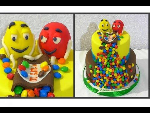 Торт M&Ms Детский торт Как собрать и украсить двухъярусный торт из мастики