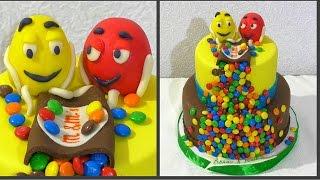 Торт M&M's Детский торт Как собрать и украсить двухъярусный торт из мастики