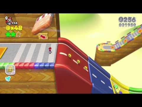 🏁 Super Mario 3D World: 3-6 Mount Must Dash (100 % All Stars & Stamp) [Walkthrough No Commentary]