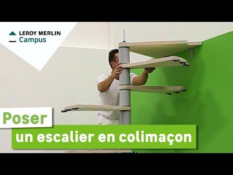 Comment Poser Un Escalier En Colimacon Leroy Merlin Youtube