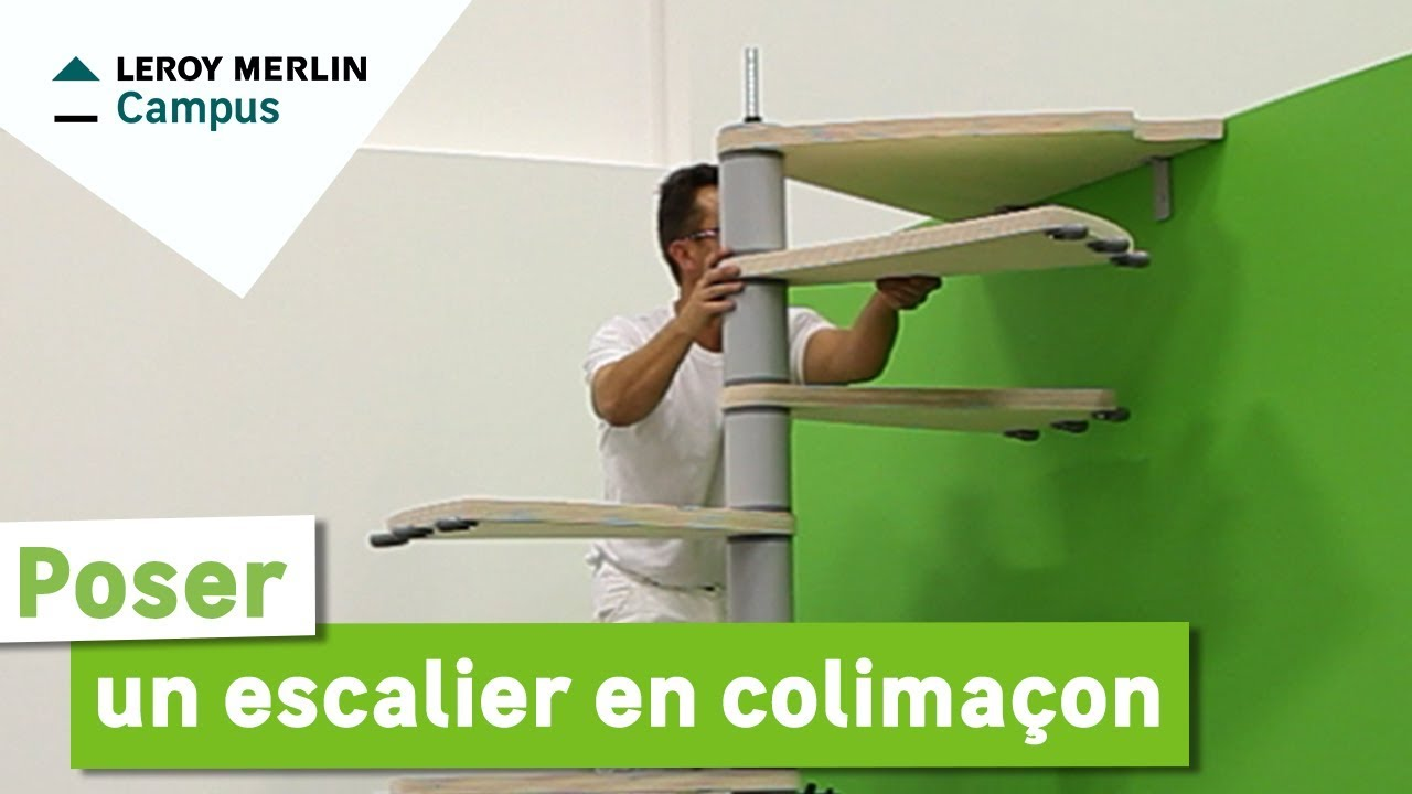 Comment poser un escalier en colima on leroy merlin for Escalier alu exterieur